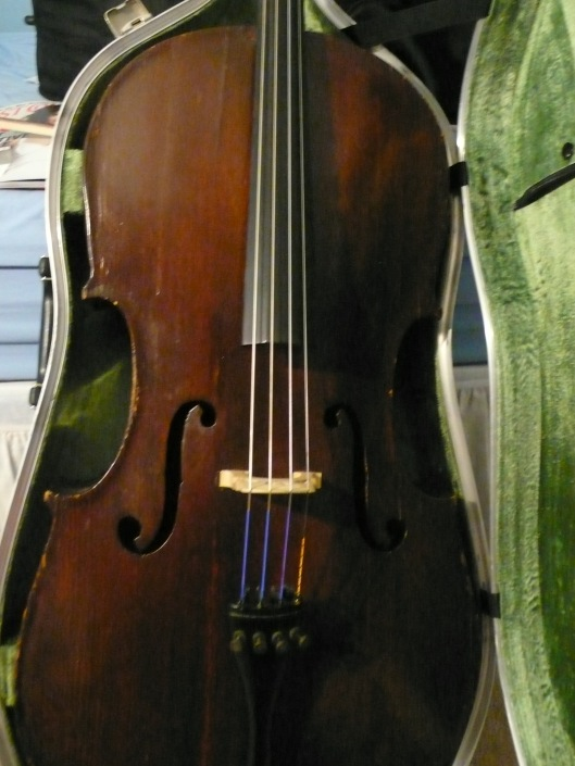 Picture of cello in case