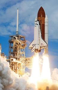 Picture of Space Shuttle Liftoff