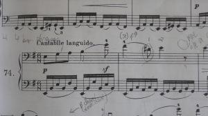 First two measures of Kummer #74 |ega[bg]|